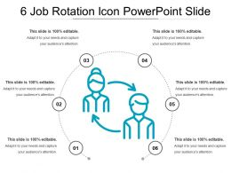 6 Job Rotation Icon Powerpoint Slide