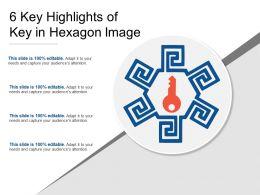 6 Key Highlights Of Key In Hexagon Image