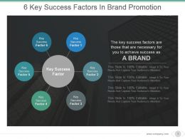 6 Key Success Factors In Brand Promotion Powerpoint Templates