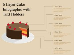 6 Layer Cake Infographic With Text Holders