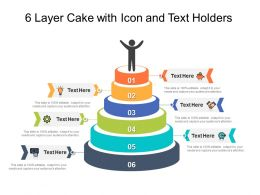6 Layer Cake With Icon And Text Holders