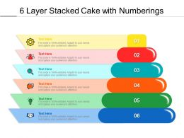 6 Layer Stacked Cake With Numberings