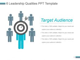 6 Leadership Qualities Ppt Template