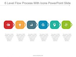 6 Level Flow Process With Icons Powerpoint Slide