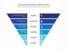 6 Level Funnel With Icons