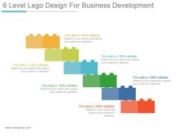 6 Level Lego Design For Business Development Powerpoint Guide