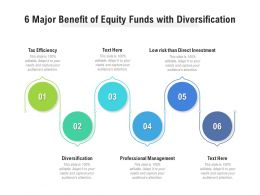 6 Major Benefit Of Equity Funds With Diversification