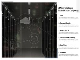 6 Major Challenges Slide Of Cloud Computing