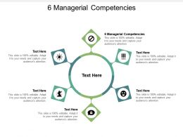 6 Managerial Competencies Ppt Powerpoint Presentation File Slideshow Cpb