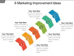 6 Marketing Improvement Ideas Powerpoint Shapes