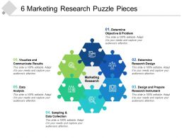 6 Marketing Research Puzzle Pieces