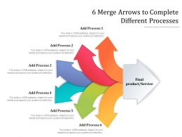 6 Merge Arrows To Complete Different Processes