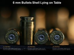 6 Mm Bullets Shell Lying On Table