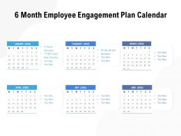 6 Month Employee Engagement Plan Calendar