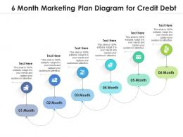 6 Month Marketing Plan Diagram For Credit Debt Infographic Template