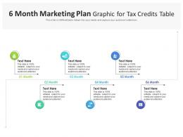 6 Month Marketing Plan Graphic For Tax Credits Table Infographic Template