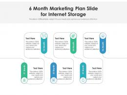6 Month Marketing Plan Slide For Internet Storage Infographic Template