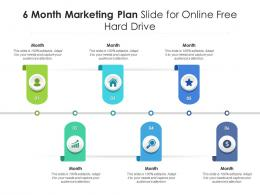 6 Month Marketing Plan Slide For Online Free Hard Drive Infographic Template