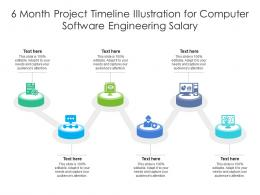 6 Month Project Timeline Illustration For Computer Software Engineering Salary Infographic Template