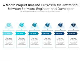6 Month Project Timeline Illustration For Difference Between Software Engineer And Developer Infographic Template