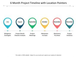 6 Month Project Timeline With Location Pointers