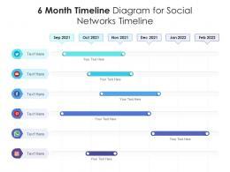 6 Month Timeline Diagram For Social Networks Timeline Infographic Template