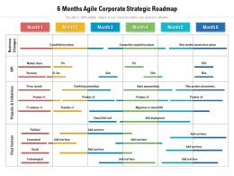 6 Months Agile Corporate Strategic Roadmap