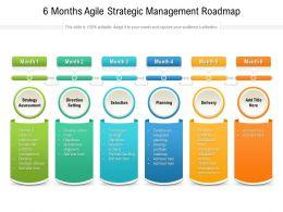 6 Months Agile Strategic Management Roadmap