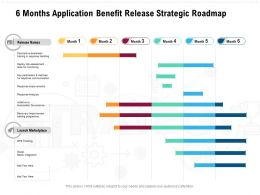 6 Months Application Benefit Release Strategic Roadmap