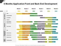 6 Months Application Front And Back End Development