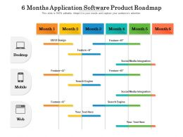 6 Months Application Software Product Roadmap