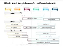 6 Months Benefit Strategic Roadmap For Lead Generation Activities