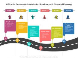 6 Months Business Administration Roadmap With Financial Planning