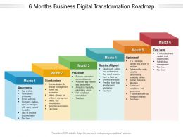 6 Months Business Digital Transformation Roadmap