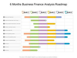 6 Months Business Finance Analysis Roadmap