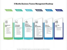 6 Months Business Finance Management Roadmap