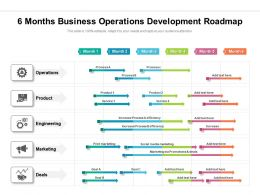 6 Months Business Operations Development Roadmap