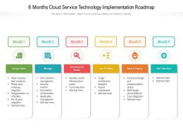 6 Months Cloud Service Technology Implementation Roadmap
