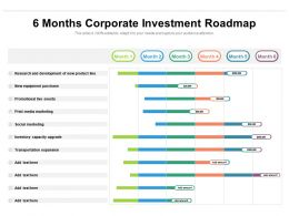 6 Months Corporate Investment Roadmap