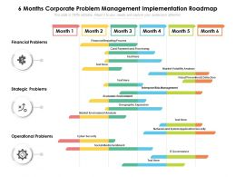 6 Months Corporate Problem Management Implementation Roadmap
