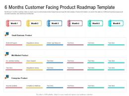 6 Months Customer Facing Product Roadmap Timeline Powerpoint Template