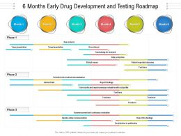 6 Months Early Drug Development And Testing Roadmap
