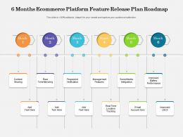 6 Months Ecommerce Platform Feature Release Plan Roadmap