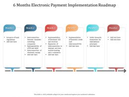 6 Months Electronic Payment Implementation Roadmap