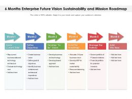 6 Months Enterprise Future Vision Sustainability And Mission Roadmap