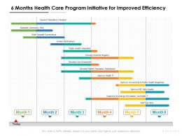 6 Months Health Care Program Initiative For Improved Efficiency