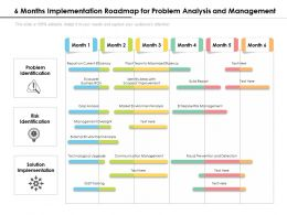 6 Months Implementation Roadmap For Problem Analysis And Management