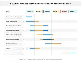 6 Months Market Research Roadmap For Product Launch