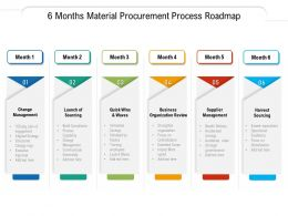 6 Months Material Procurement Process Roadmap