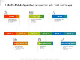 6 Months Mobile Application Development With Front End Design